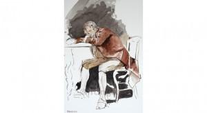 Home sobre la taula.Interpretant Fortuny.
